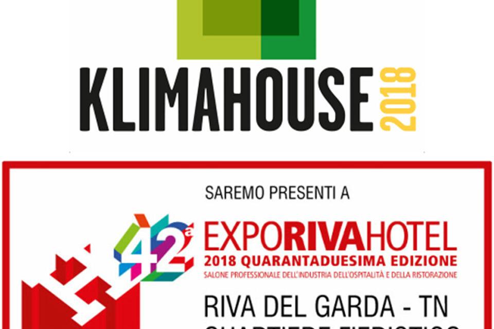 Immagine per Due grandi eventi: Klimahouse 2018 e Expo Riva Hotel